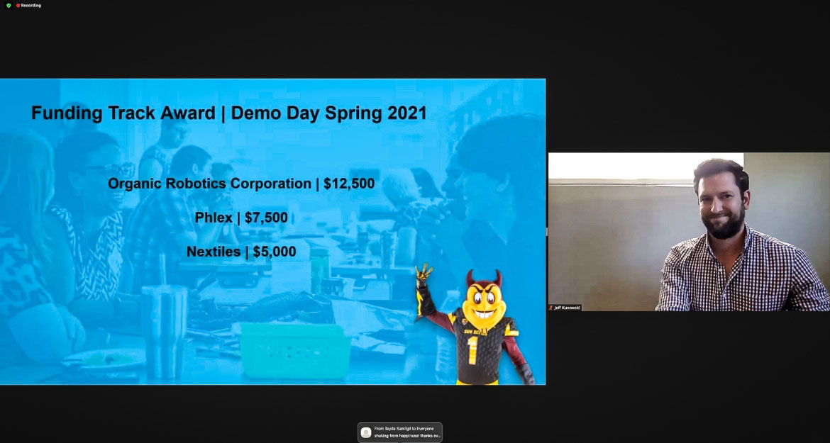 A man on livestream introduces Demo Day 2021.