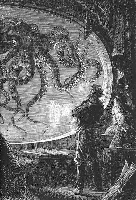 "Illustration from ""Twenty Thousand Leagues Under the Sea"""