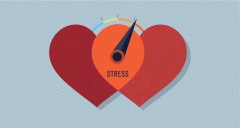 graphic of two hearts with stress meter