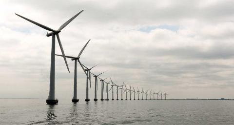 An offshore wind farm. Photo by United Nations Photo on Flickr.