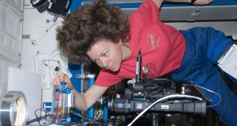 Astronaut Cady Coleman on the International Space Station